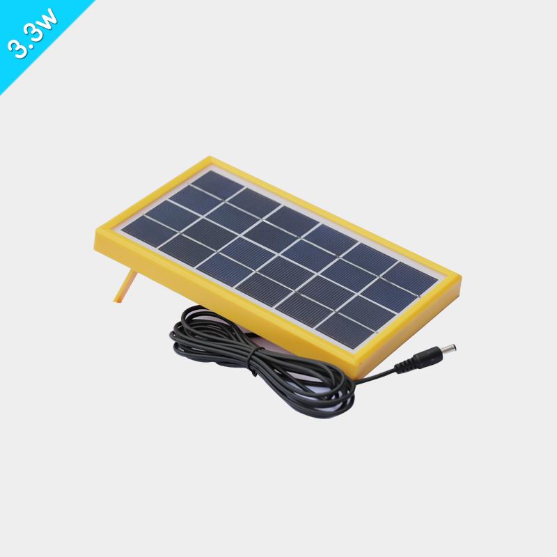 黄色塑料边框太阳能板